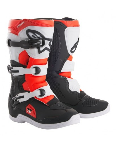 ALPINE STAR BOOT 3S YOUTH BK/WH/RD 3