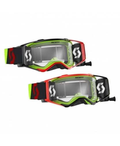 SCOTT PROSPECT GOGGLE ROLL OFF YELLOW/RED CLEAR LENS