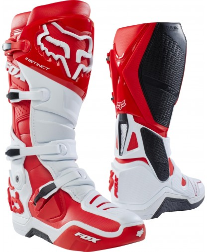 FOX INSTINCT BOOT -WHITE/RED