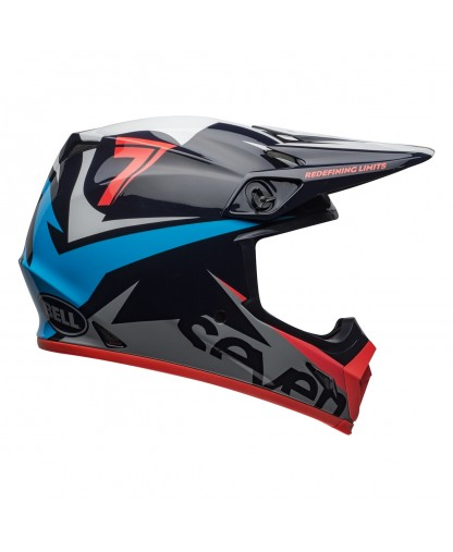 Seven MX 2019 MX-9 MIPS Adult Helmet (Ignite Navy/Coral)