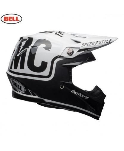 Bell MX 2018 Moto-9 Mips Adult Helmet (Fasthouse Matte Black/White)
