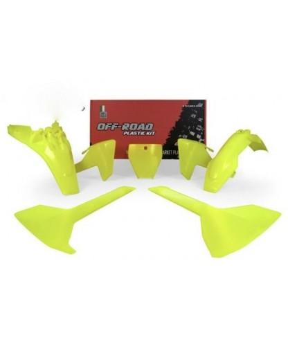 RACE TECH PLASTIC KIT/5 18-19 HUSKY TC85 NEON YELLOW