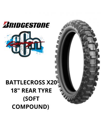 "BRIDGESTONE BATTLECROSS X20 18"" REAR TYRE (SOFT COMPOUND)"