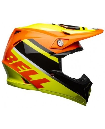 Bell MX 2021 Moto-9 Mips Adult Helmet (Prophecy Gloss Yellow/Orange/Black)