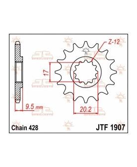 JT 14 Tooth Steel Front Sprocket 428 Pitch JTF1907.14 For KTM 105 SX 85 19//16