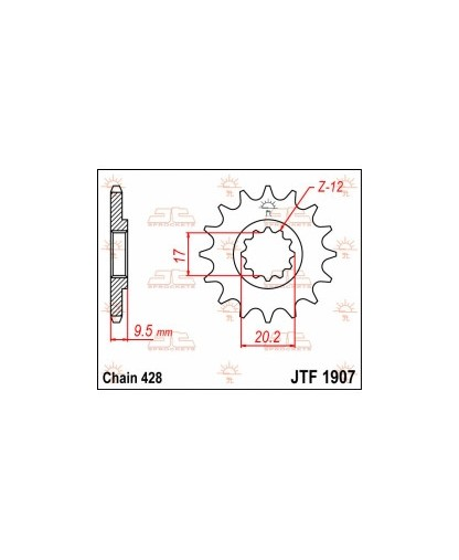 JTF1310.15SC FRONT SELF CLEANING SPROCKET / 15 TEETH / 420 PITCH / NATURAL / STEEL