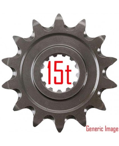 202 FRONT REPLACEMENT SPROCKET / 15 TEETH / 428 PITCH / BLACK / STEEL