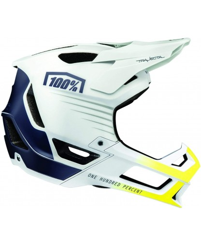 100% Trajecta Helmet White / Navy
