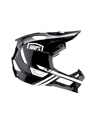 100% Trajecta Helmet Black / White