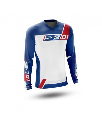 S3 ENDURO SHIRT COLLECTION 01 - PATRIOT RED/BLUE