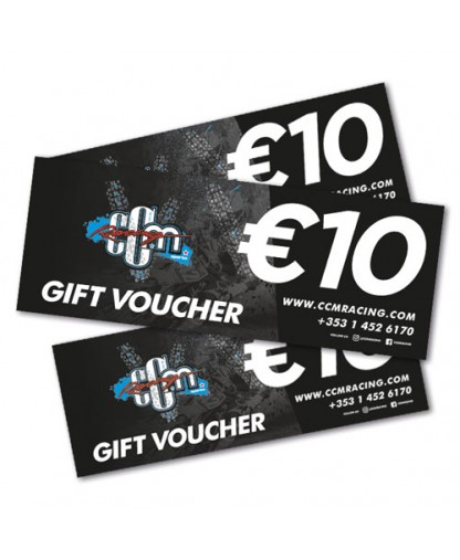 €10 CCM Racing In-store Gift Voucher