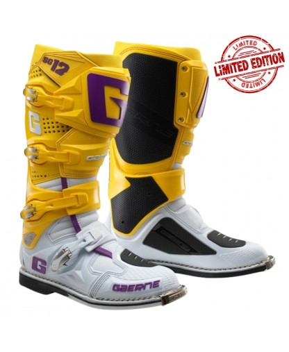 Gaerne SG-12 Limited Edition - White/Yellow/Purple