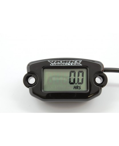 WORKS CONNECTION HOUR METER [BLK]