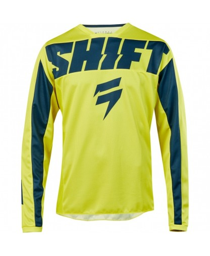 SHIFT WHIT3 LABELJERSEY YOUTH YORK YELLOW NAVY