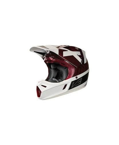 FOX V3 PREEST HELMET, ECE - DARK RED