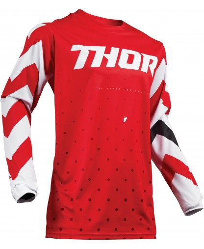 THOR PULSE S19 JERSEY [STNNER RED/WHITE]