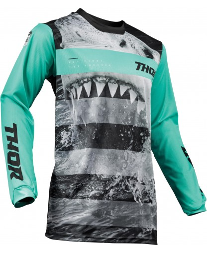 THOR PULSE SAVAGE JAWS S9 OFFROAD JERSEY MINT/BLACK