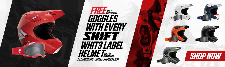 Shift Whit3 Label Helmet Goggle Promo